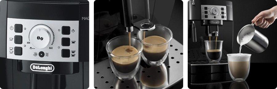 příprava kávy pomocí kávovaru DeLongi ECAM22.110B