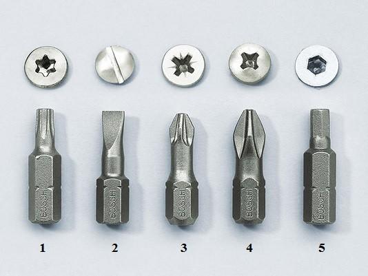 5 nejčastějších šroubovacích bitů