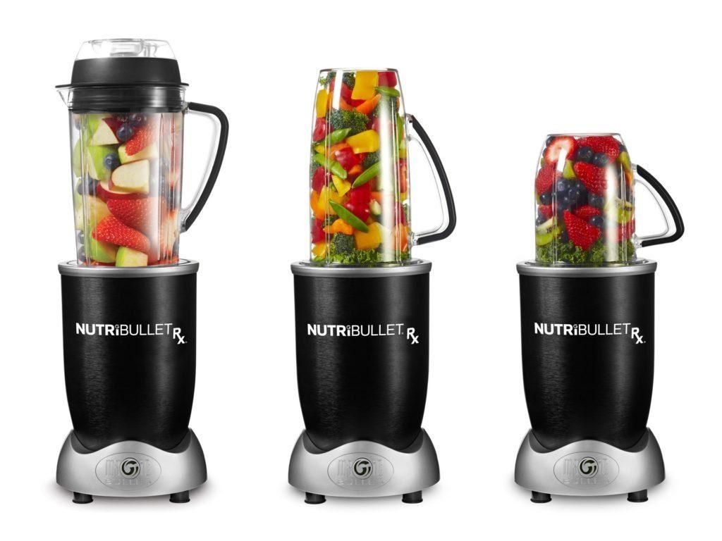 Delimano Nutribullet RX 1700 - různé velikosti nádoby