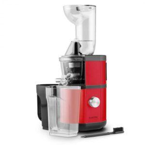 Fruit Berry, červený, pomalý odšťavňovač, 400W, 60 ot./min., plnicí trubice 8,5 cm, ušlechtilá ocel