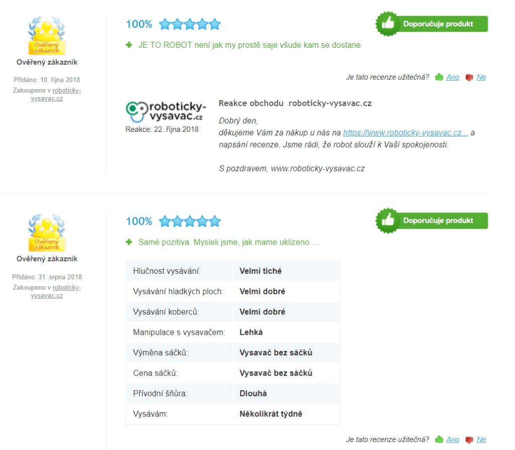 recenze robotického vysavače iRobot Roomba 966 (z heureka)