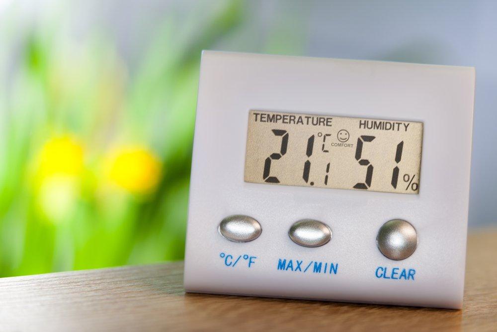 téměř ideální vlhkost vzduchu 51%, teplota 21 °C