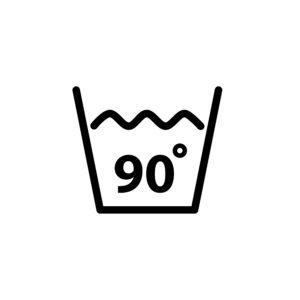 Na 90 ° C můžete prát například utěrky na nádobí