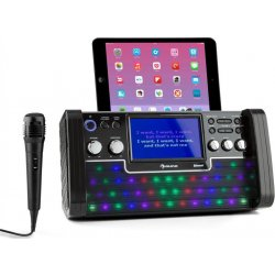 Auna DiscoFever bílý bluetooth karaoke systém