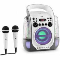 Auna Kara Liquida karaoke systém CD USB MP3 fontána LED 2 x mikrofon přenosný MG3 Kara Liquida GY