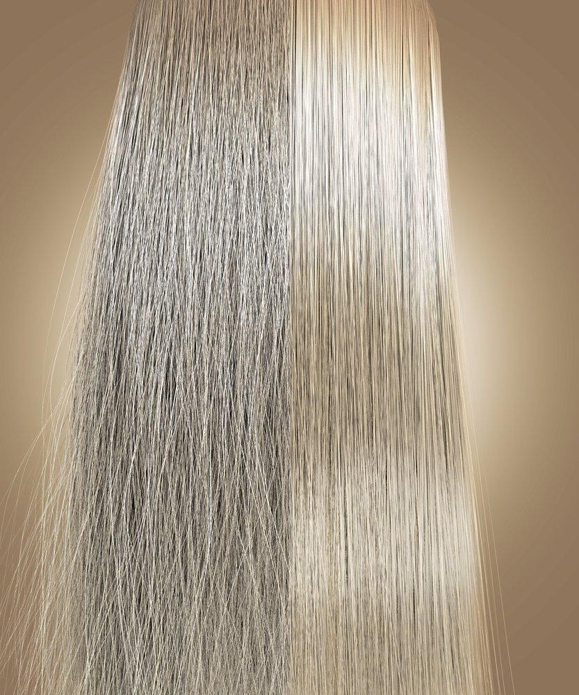 Vlasy ošetřené iontovou technologií