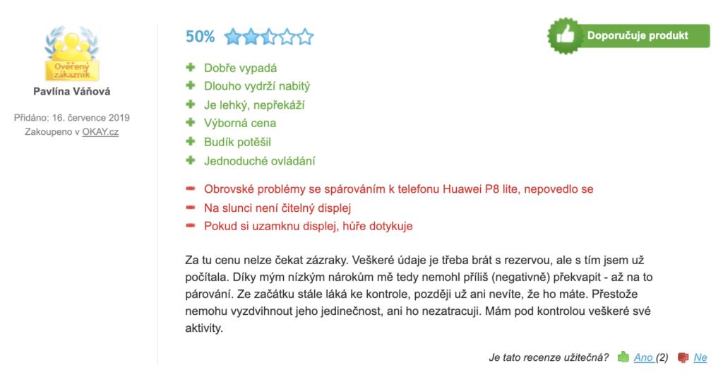 Xiaomi Mi Band 3 - negativná recenze