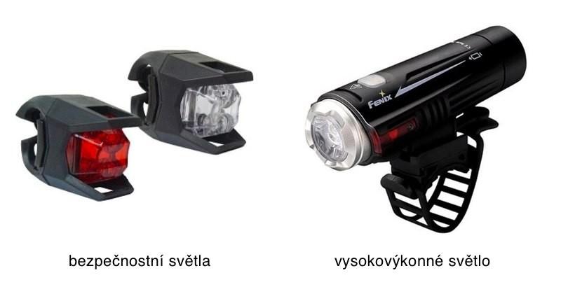 Bezpečnostní a vysokovýkonné světlo na kolo