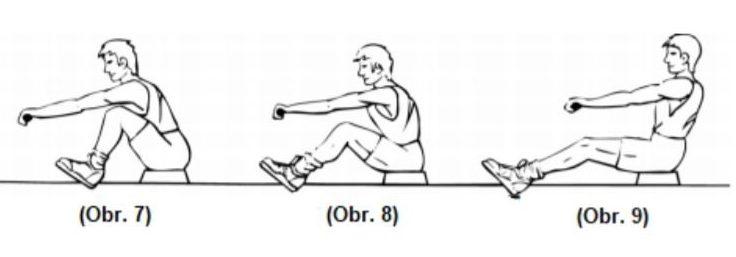 Cvičení na nohy na veslovacím trenažéru