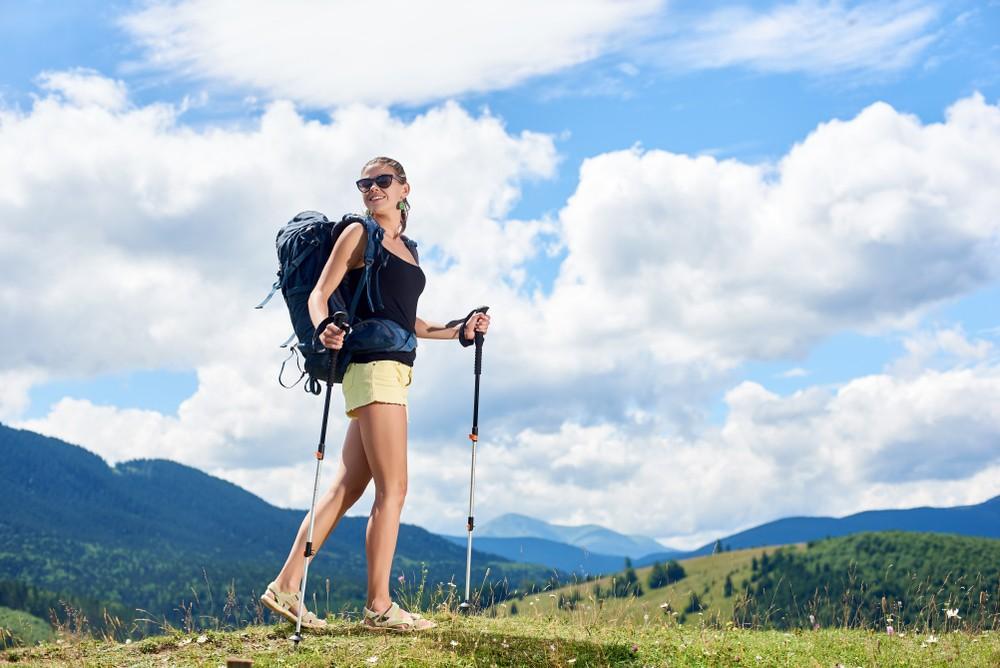 trekingové hole - lehké a pevné