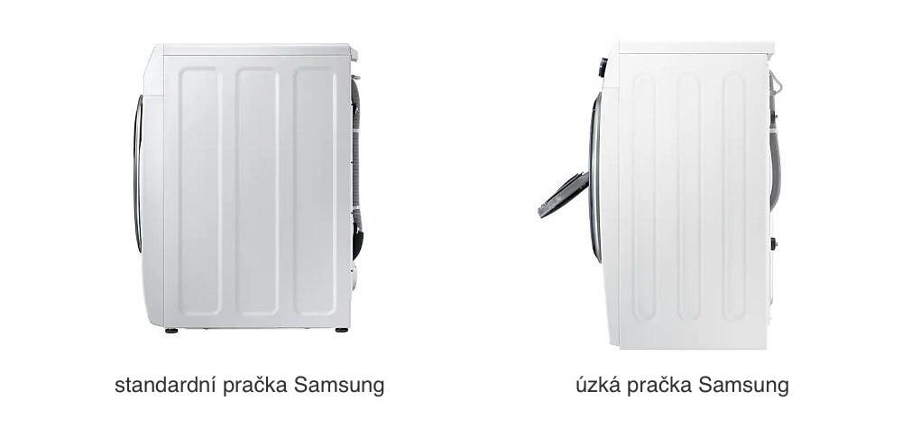 velikost pračky Samsung - standardní, úzká