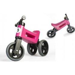 Teddies Funny Wheels Sport 2v1 růžové s gumovými koly