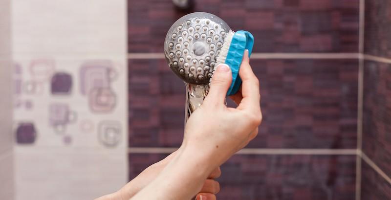 Čištění sprchové hlavice