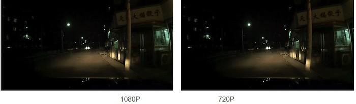 Kvalita videozáznamu kamery v autě (1080p / 720p)