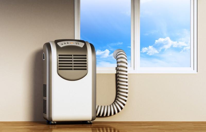 mobilní klimatizace, umístění u okna