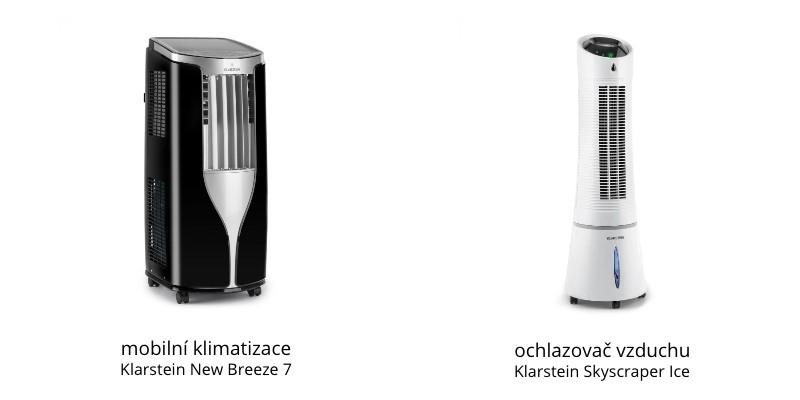 Mobilní klimatizace vs ochlazovač vzduchu