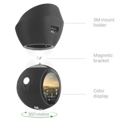 Jedinečný design autokamery Navitel R1000