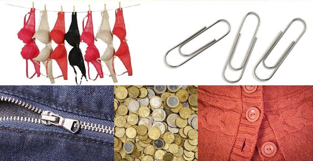 Peníze, knoflíky, zip
