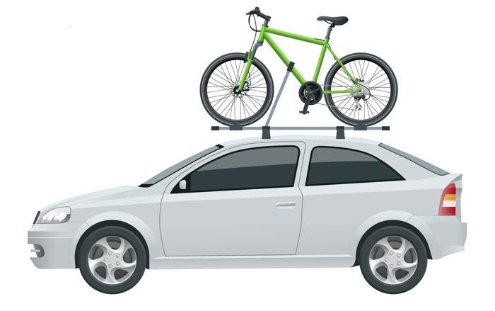 Střešní nosič na kolo