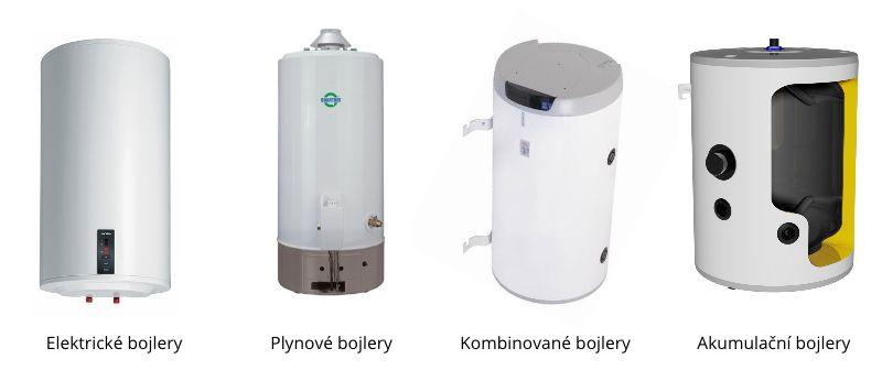 Typy bojlerů - Elektrické, Plynové, Kombinované, Akumulační