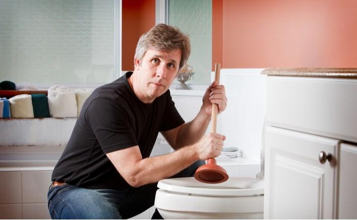 ucpaný záchod