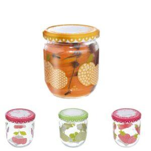 Orion Sada zavařovacích sklenic s víčkem Sweet 425 ml, 4 ks, mix barev