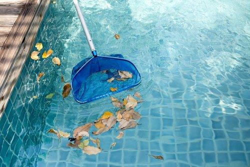 Síťka na nečistoty v bazénu