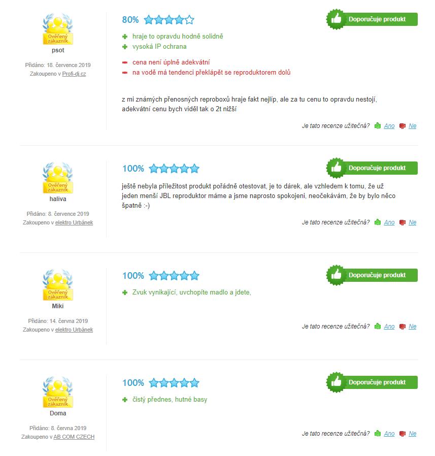 JBL Boombox - hodnocení zákazníků