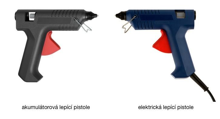lepící pistole - elektrická, akumulátorová
