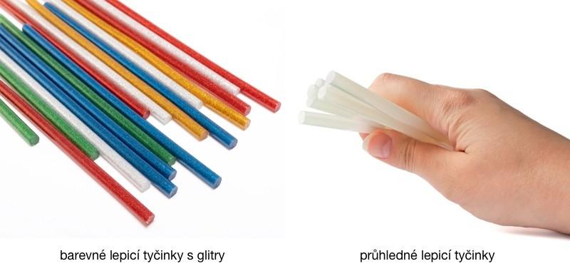 lepicí tyčinky - barevné, průhledné