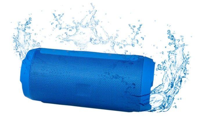 Voděodolný modrý přenosný reproduktor