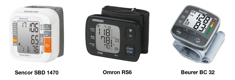 3 digitální tlakoměry na zápěstí - Sencor, Omron, Beurer
