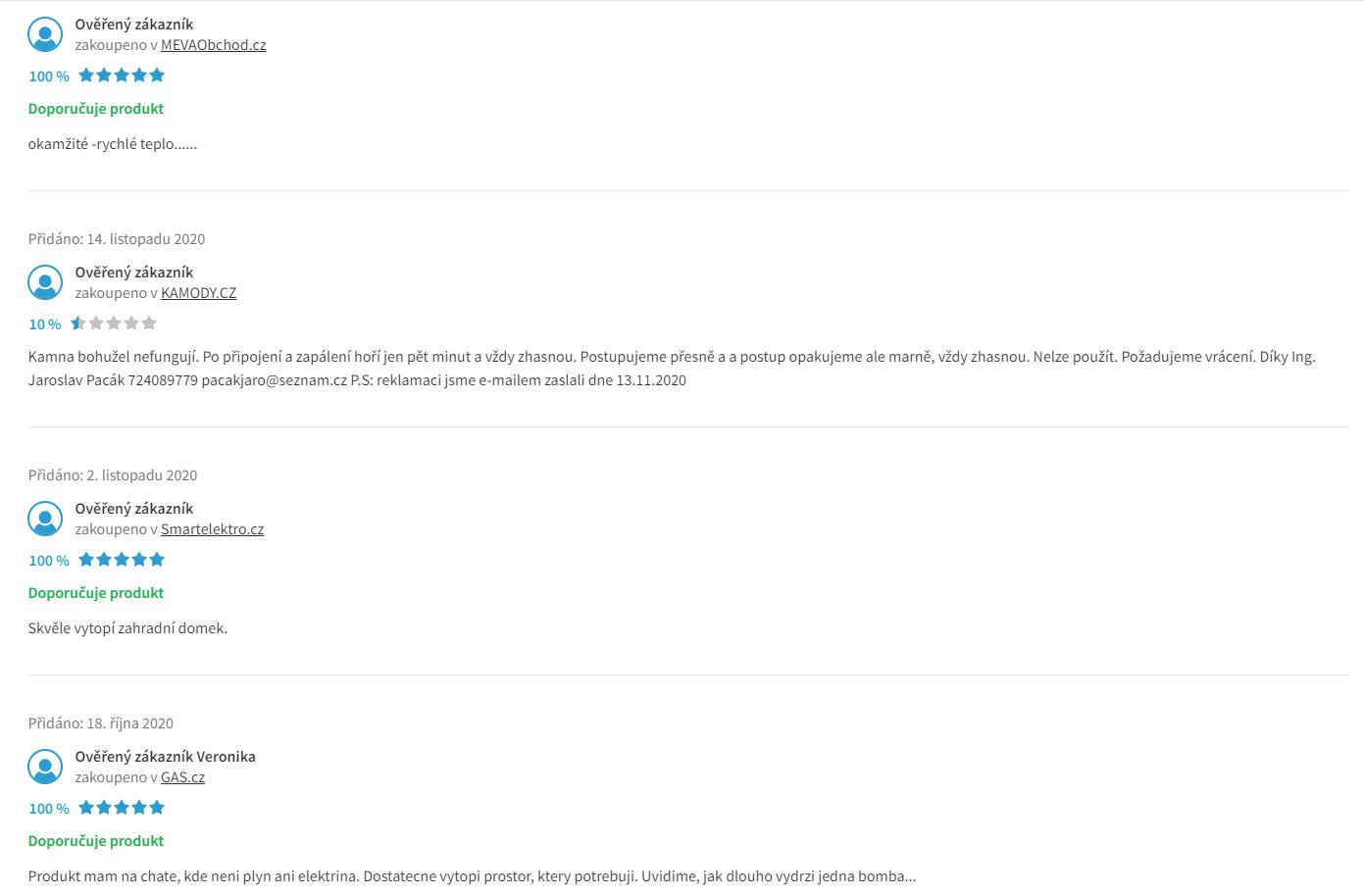 Meva Relax - recenze zákazníků