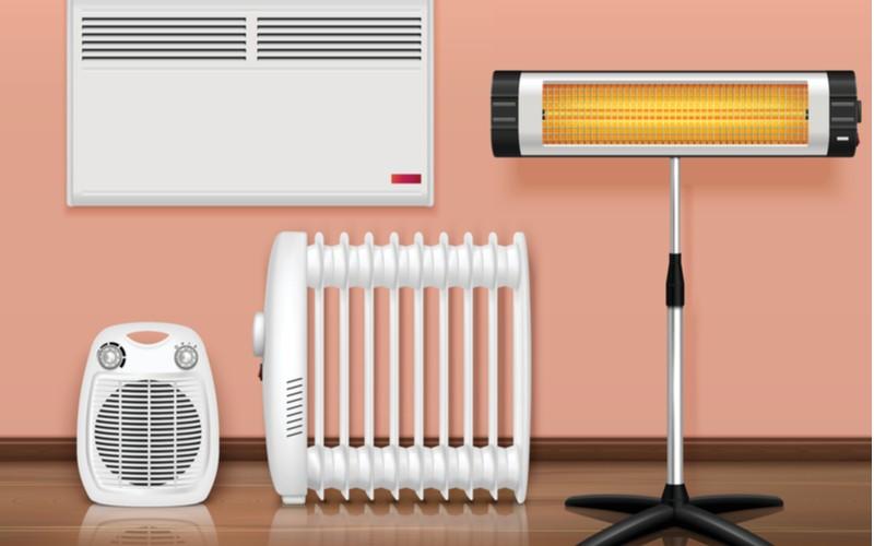 Ohřívače - teplovzdušný ventilátor, konvektor, radiátor, infrazářič