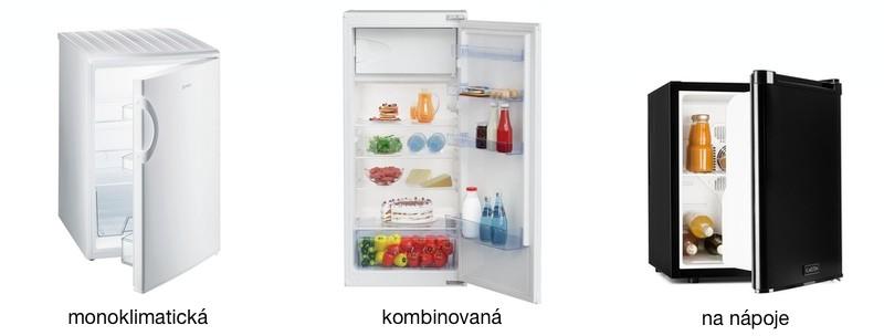 malé chladničky - monoklimatická, kombinovaná, na nápoje
