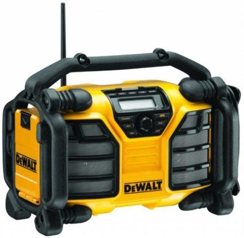Žluto černé rádio DeWalt DCR017 na staveniště