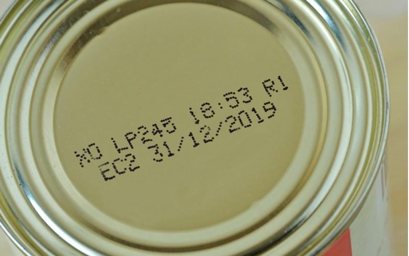 Výrobek s uvedeným datem výroby a spotřeby
