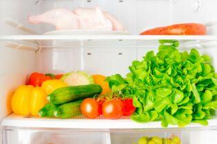 Zelenina v lednici