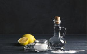 jedlá soda, citron a ocet