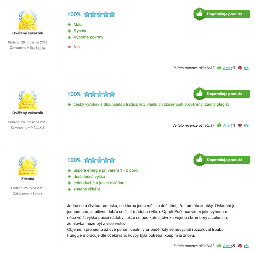 Zkušenosti uživatelů s Remoska R21 F Original