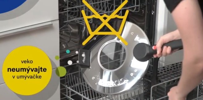 Víko Remosky nevkládejte do myčky nádobí
