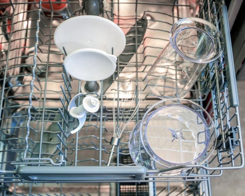 Části mixéru Delimano Joy 3v1 v myčce