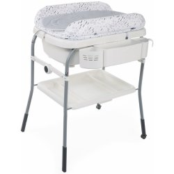 Chicco Pult přebalovací s vaničkou Cuddle & Bubble Cool Grey