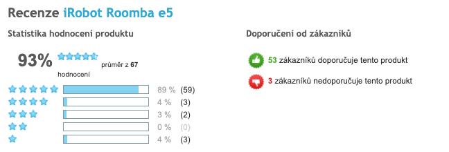 iRobot Roomba e5 - celkové hodnocení produktu, Heureka