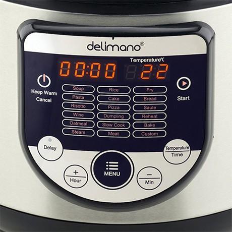 multifunkční ovládací panel hrnce Delimano