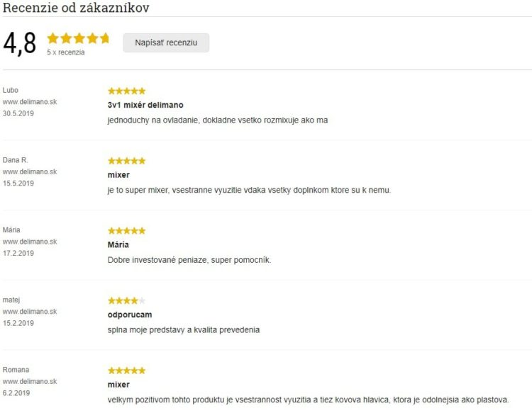 Recenze zákazníků na Delimano Joy 3v1 ponorný mixér