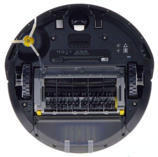 Robotický vysavač iRobot Roomba 696 WiFi - spodní strana, rotační kartáče, boční kartáč