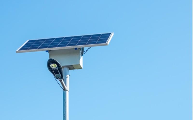 venkovní velká solární lampa