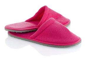 Dámské domácí růžové pantofle