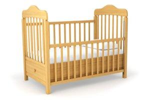 Dřevěná dětská postýlka